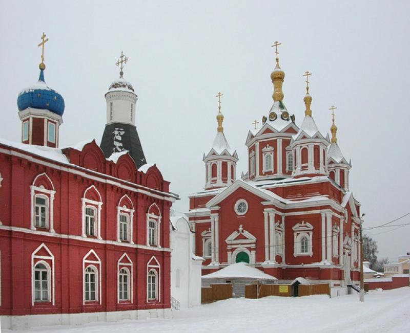 Успенский Брусенский монастырь зимой
